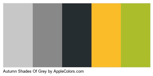 Autumn Shades Of Grey Brand Colors Logo