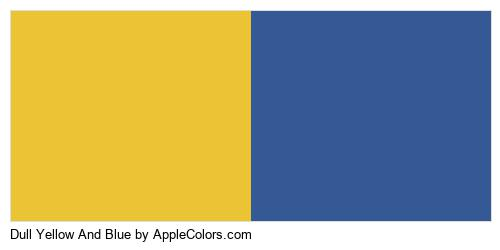 Dull Yellow And Blue Logo Colors Logo
