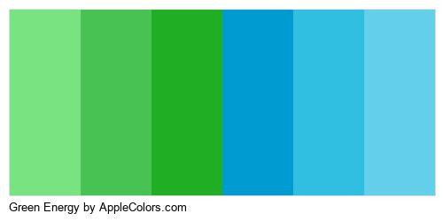 Green Energy Palette Colors Logo