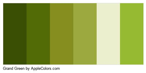 Grand Green Palette Colors Logo
