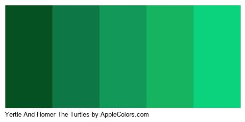 Yertle And Homer The Turtles Color Colors Logo