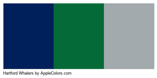 Hartford Whalers Colors Logo
